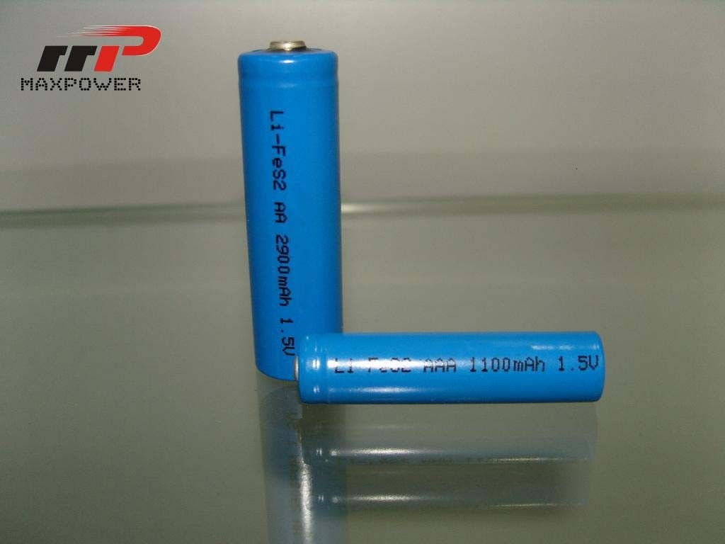 AAA LiFeS2 1100mAh 1.5V Primary Lithium Battery High Temperature