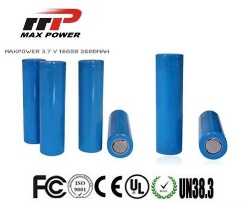18650 2600mAh Lithium Ion Rechargeable Batteries 3.7V For Power Bank