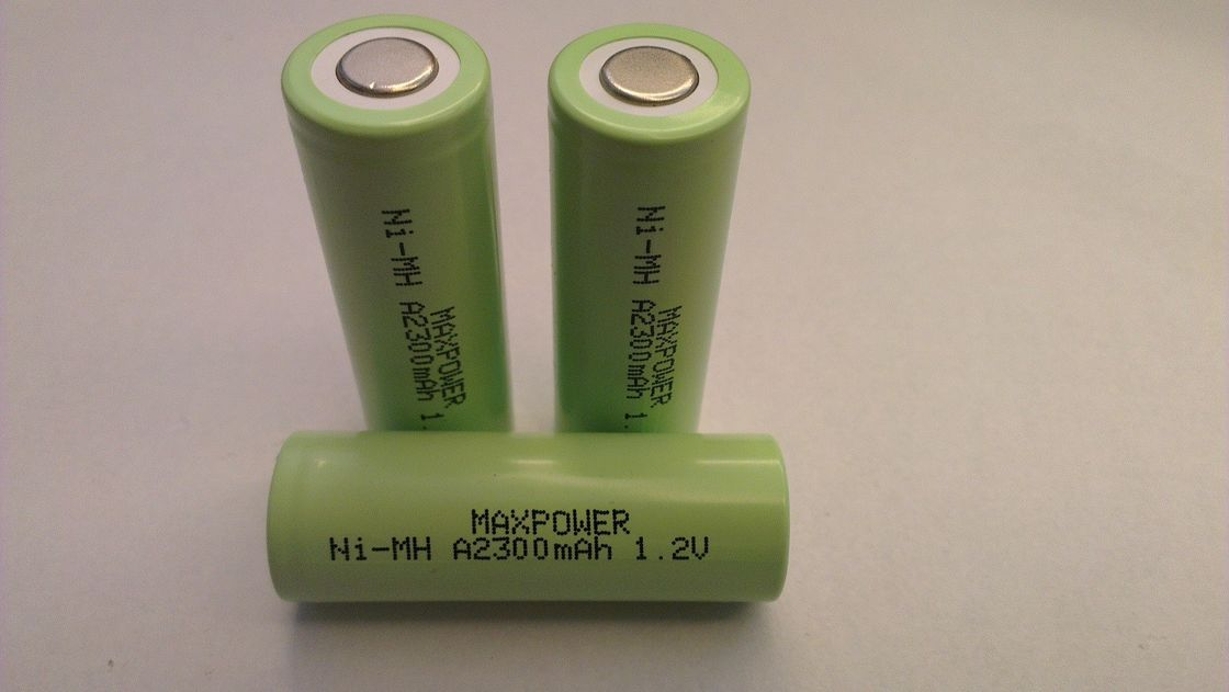 A2300 NIMH Rechargeable Batteries Cell  1.2V Battery Flat Top UL CE IEC
